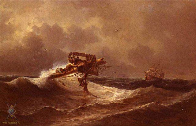 Спасённые :: Разговор на берегу :: Айвазовский И.К. - Море в живописи ( морские пейзажи, seascapes ) фото
