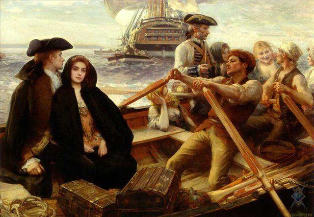 Весёленькое судно::Альберт Линч - Море в живописи ( морские пейзажи, seascapes ) фото