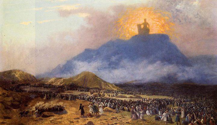 картина Моисей на горе Синай :: Жан Леон Жероме - Библейские сюжеты в живописи фото