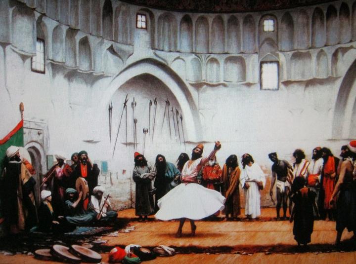 картина Кружение Дервишей :: Жероме Жан Леон - Арабский восток фото