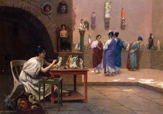 Живопись Вдыхает Жизнь в Скульптуру :: Жероме Жан Леон - Древний Рим и Греция, Египет фото