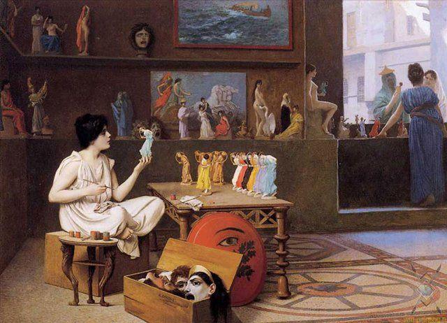 Живопись Вдыхает Жизнь в Скульптуру  II :: Жан Леон Жером - Древний Рим и Греция, Египет фото