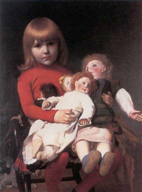 Мадлен Джульет Джероме со своими куклами :: Жероме Жан Леон  ( Франция ) - Портреты фото