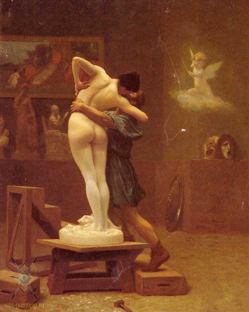 картина Пигмалион и Галатея :: Жероме Жан Леон - Романтические сюжеты в живописи фото
