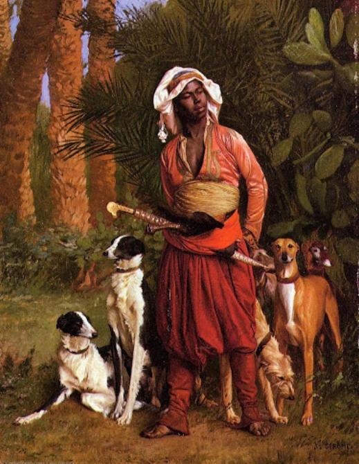 Псарь с охотничьими собаками :: Жероме Жан Леон - Арабский восток фото