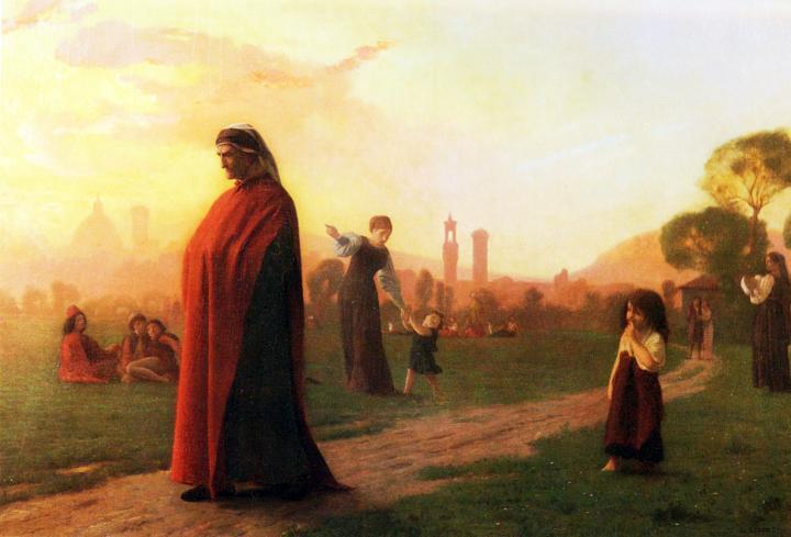 картина Данте (Он увидел колодец) :: Жером Жан Лион - Литературные персонажи фото