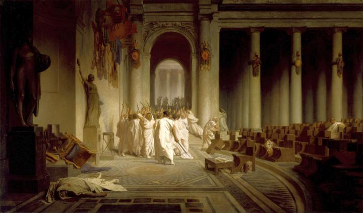Смерть Цезаря :: Жан-Леон Жером  ( Франция ) - Исторические сюжеты в живописи фото