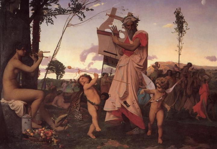 Анакреон, Бахус и Купидон - Античная мифология фото