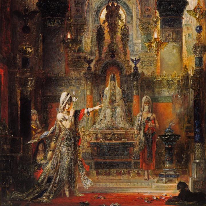 Саломея, танцующая перед Иродом :: Гюстав Моро - Библейские сюжеты в живописи фото