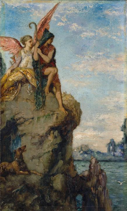 картина Гесиод и муза :: Гюстав Моро - Античная мифология фото