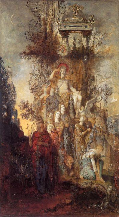 картина Музы, покидающие своего отца Апполона :: Густав Моро - Античная мифология фото
