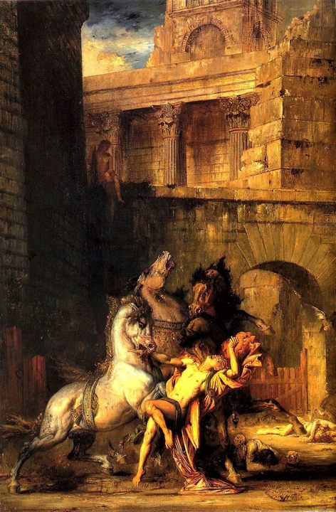Диомед, пожираемый своими конями :: Гюстав Моро - Античная мифология фото