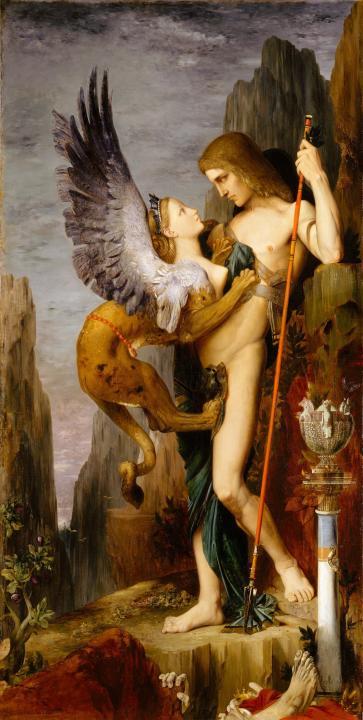 картина Эдип и Сфинкс :: Гюстав Моро - Античная мифология фото