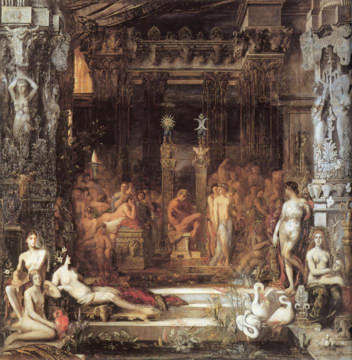 Дочери Тезея :: Гюстав Моро, описание картины - Античная мифология фото