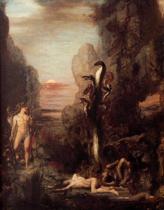 Геркулес и гидра :: Гюстав Моро, описание картины - Античная мифология фото