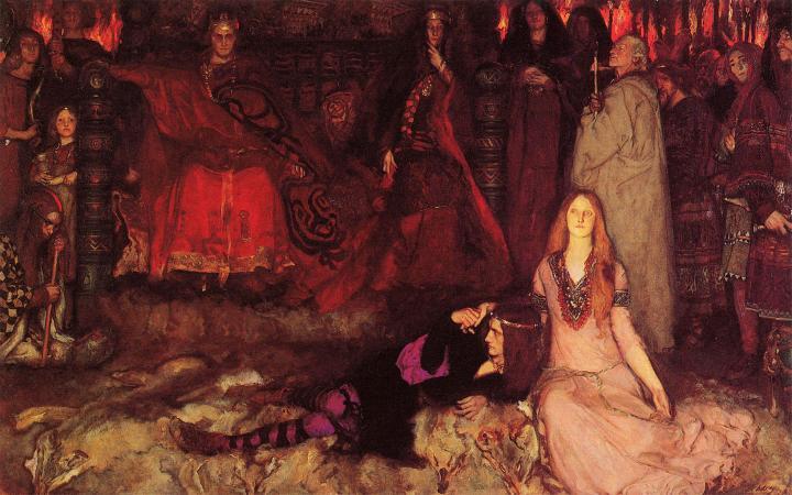 жанровая картина Гамлет играет сцену :: Эдвин Остин Эбби - Литературные персонажи фото