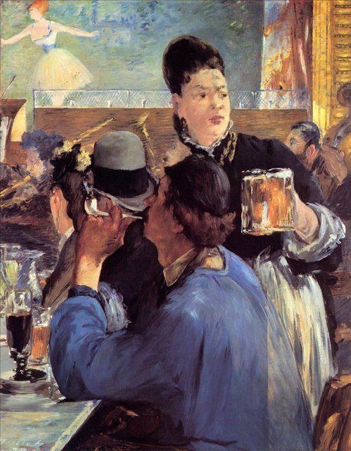 В уголке кафе во время концерта :: Эдуард Мане - Edouard Manet фото