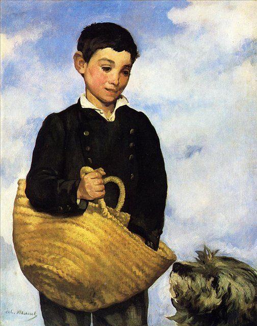 Мальчик с собакой :: Эдуард Мане - Портреты фото