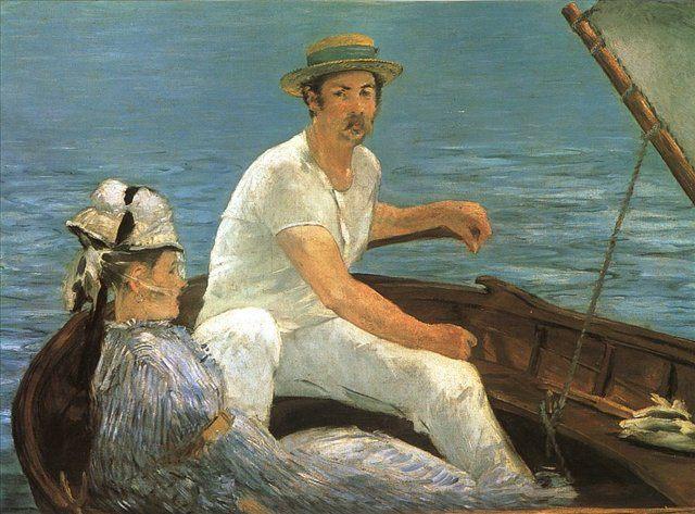 картина Путешествуя, В лодке :: Эдуард Мане - Edouard Manet фото