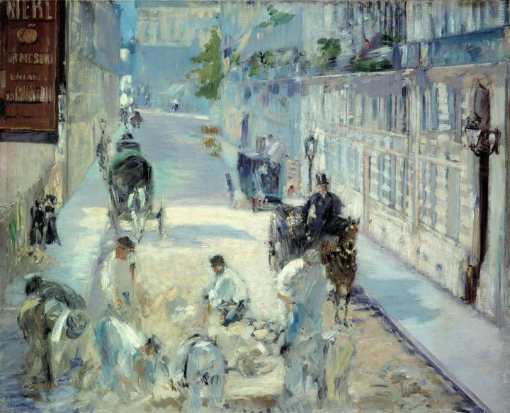 Улица Монье с дорожными рабочими :: Эдуард Мане, описание картины - Edouard Manet фото