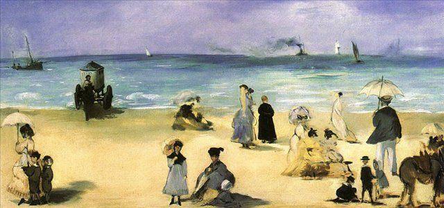 На пляже в Болоньи :: Эдуард Мане, описание картины - Edouard Manet фото