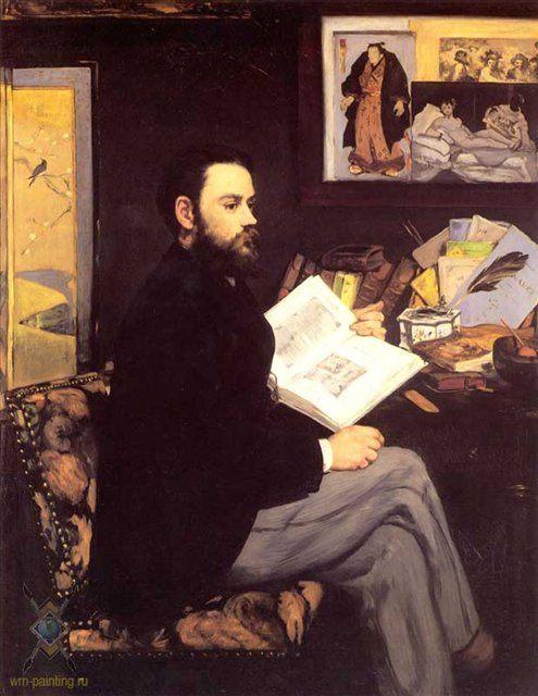 Портрет Эмиля Золя :: Эдуард Мане, описание картины - Edouard Manet фото
