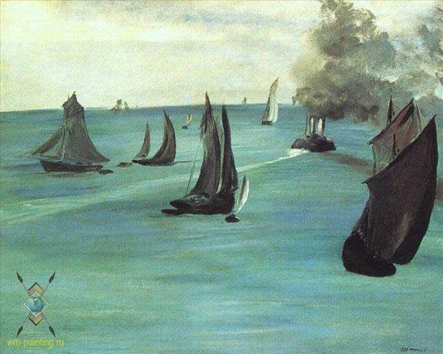в Сант Адрес :: Эдуард Мане - Море в живописи ( морские пейзажи, seascapes ) фото