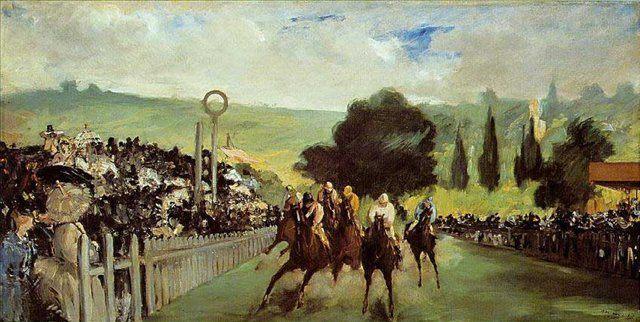 """Картина Мане """"Скачки на Лоншане"""" (Гонки под Парижем) - Edouard Manet фото"""