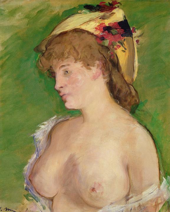 Блондинка с обнажённой грудью :: Эдуард Мане, картина ню, эротика в живописи  - Картины ню, эротика в шедеврах живописи фото
