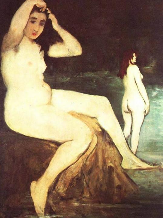 картина Купальщицы на Сене :: Эдуард Мане ( Франция ) - Картины ню, эротика в шедеврах живописи фото