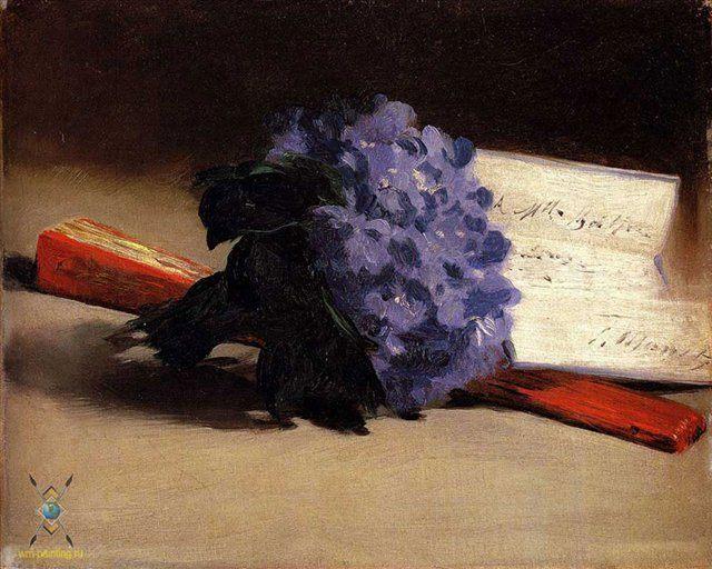 Букет фиалок :: Мане Эдуард - Edouard Manet фото