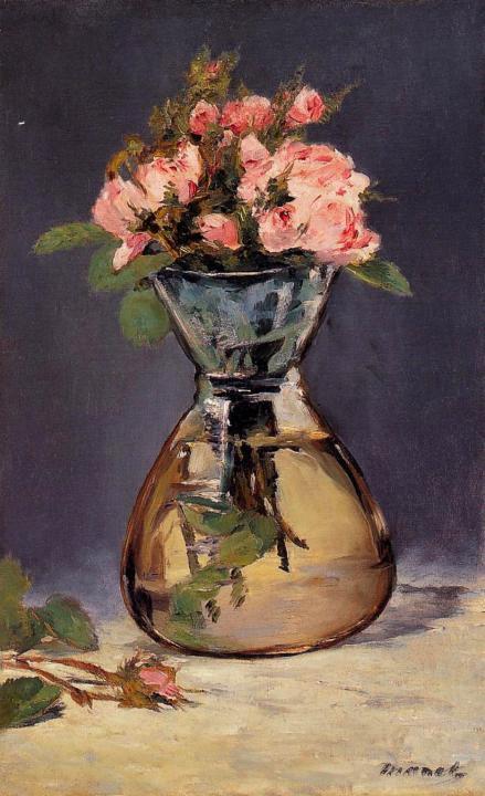 Букет роз в вазе :: Эдуард Мане ( Франция ) - Цветы и натюрморты - картины художников прошлых веков фото