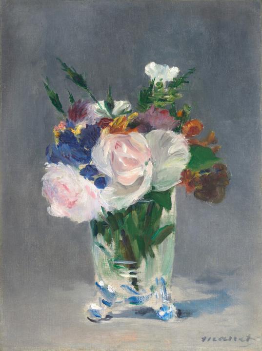 Букет в хрустальной вазе :: Эдуард Мане ( Франция ) - Цветы и натюрморты - картины художников прошлых веков фото