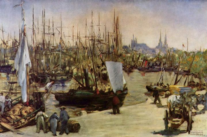 Гавань в Бордо :: Эдуард Мане, описание картины - Edouard Manet фото