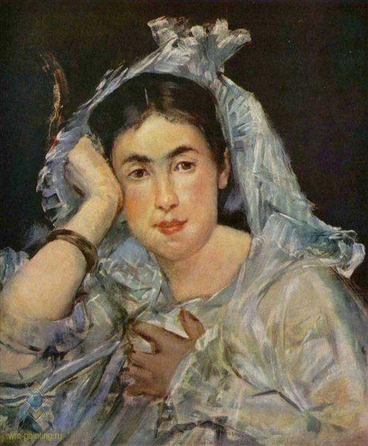 Маргарет де Конфланс в капюшоне :: Эдуард Мане - Портреты фото