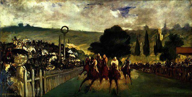 картина Скачки в Лонгкэмпе :: Эдуард Мане - Edouard Manet фото