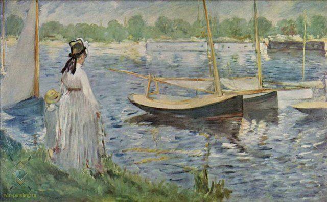 На берегу Сенны возле Аржантей :: Эдуард Мане - Edouard Manet фото