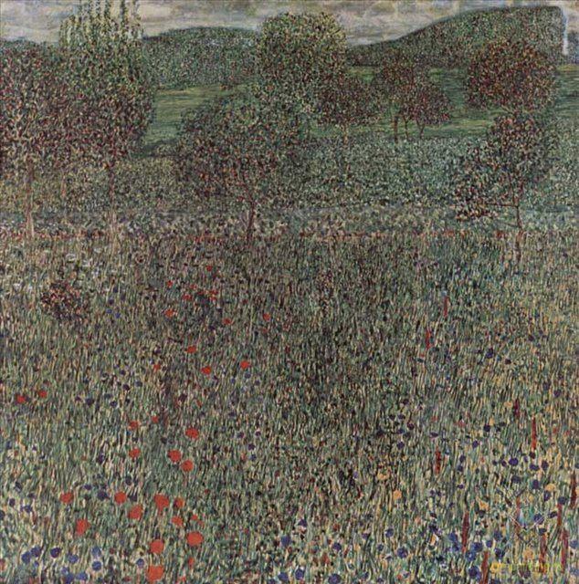 Цветочное поле :: Густав Климт - Пейзаж ( пейзажная живопись ) фото