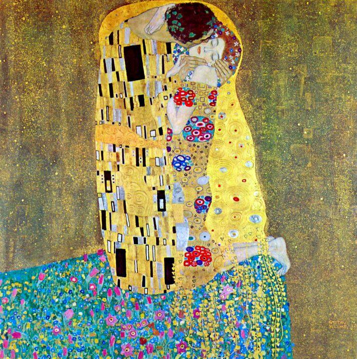 картина Поцелуй ::   Густав Климт, описание картины  - Gustav Klimt (Климт Густав ) фото