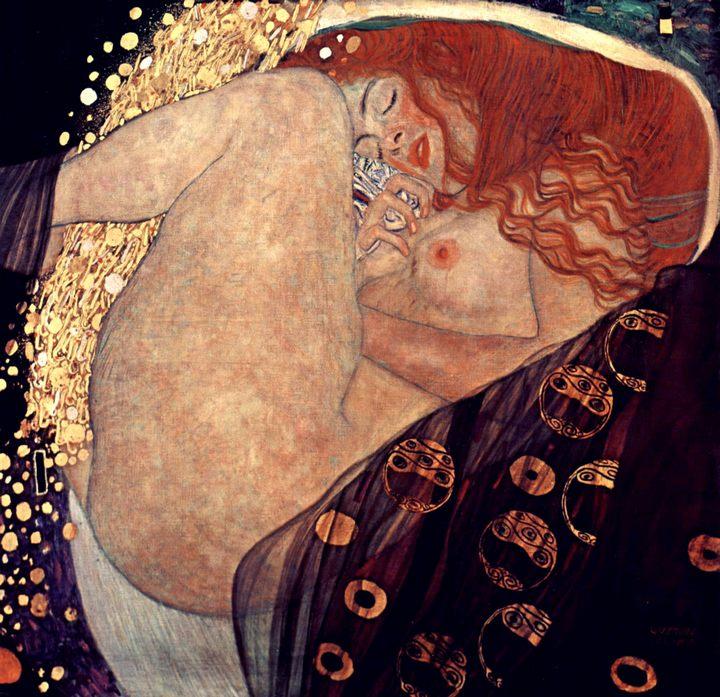Даная :: Густав Климт, описание картины  - Gustav Klimt фото
