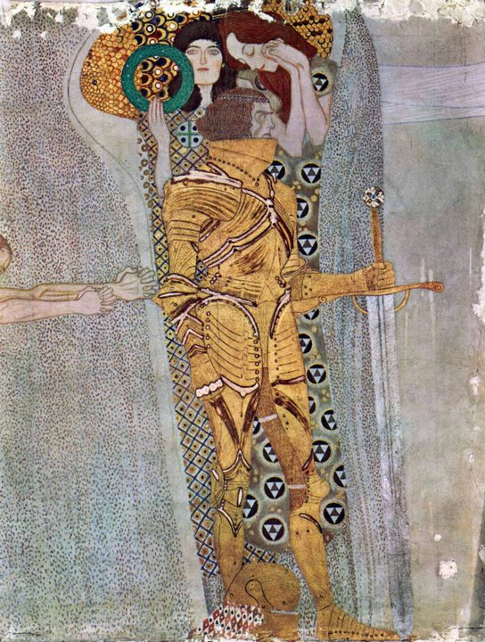 Фриз Бетховена, Wandgem :: Густав Климт, описание произведения - Gustav Klimt фото