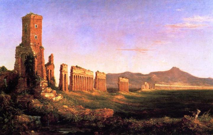 Акведук возле Рима :: Томас Коул, описание картины - Архитектура фото