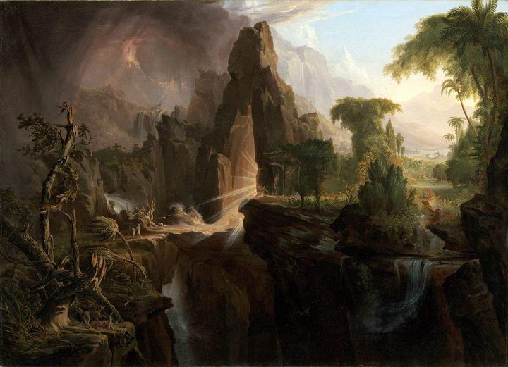 картина Изгнание из рая :: Томас Коул, плюс статья Мифы и легенды об опалах - Библейские сюжеты в живописи фото