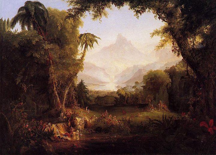 картина Рай ( Эдем ) :: Томас Коул, плюс статья Чёрный цвет в интерьере – простота и элегантность - Библейские сюжеты в живописи фото