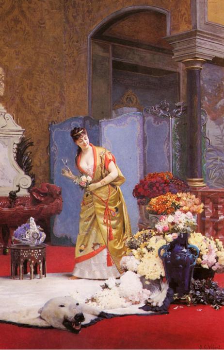 Цветы осени :: Джехан Джордж Виберт - Цветы и натюрморты - картины художников прошлых веков фото