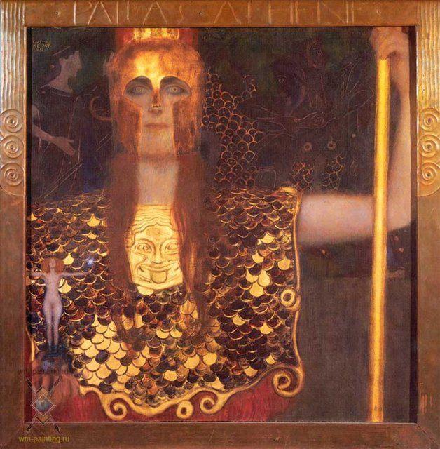 Афина Паллада :: Густав Климт, описание картины  - Gustav Klimt фото