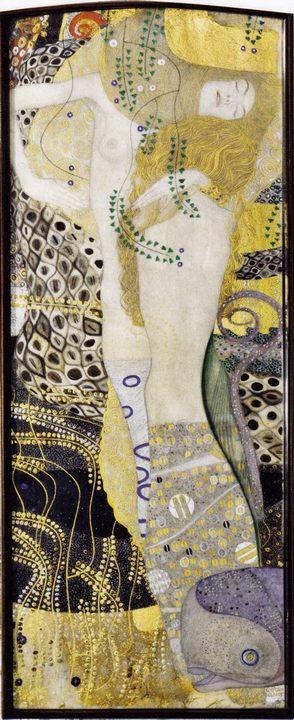 Водяные змеи I :: Густав Климт, описание картины  - Gustav Klimt фото