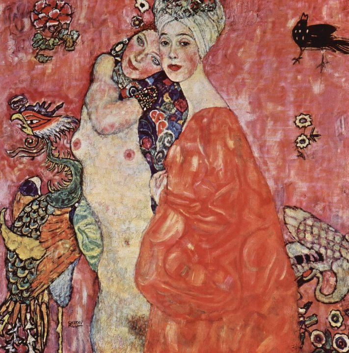 картина Подруги  :: Густав Климт, картина ню, эротика в живописи  - Gustav Klimt (Климт Густав ) фото