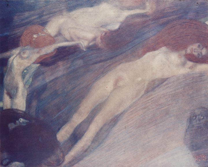 Движение воды :: Густав Климт, картина ню, эротика в живописи  - Gustav Klimt (Климт Густав ) фото