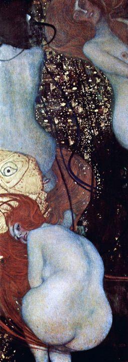 картина Золотые рыбки :: Густав Климт - Картины ню, эротика в шедеврах живописи фото